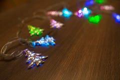 Гирлянда золота рождества теплая Стоковое фото RF