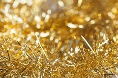 Гирлянда золота для рождественской елки Стоковое фото RF