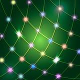 Гирлянда неона вектора также вектор иллюстрации притяжки corel Стоковая Фотография