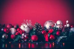 Гирлянда рождества декоративная Стоковое фото RF