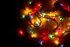 Гирлянда рождественской елки Стоковое Изображение
