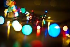 Гирлянда рождественской елки Стоковые Изображения RF