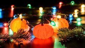 Гирлянда tangerines рождества Стоковые Изображения RF