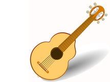 Гитара акустическая 6 строк также вектор иллюстрации притяжки corel Стоковая Фотография