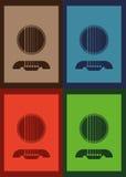 Гитара вектора иллюстрации плаката графическая Стоковые Изображения RF