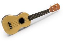 Гитара гавайской гитары изолированная на белом включенном пути клиппирования: не включает тень Стоковое фото RF