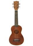 Гитара гавайской гитары на белой предпосылке Стоковое фото RF
