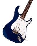 гитара голубого крупного плана электрическая Стоковое Фото