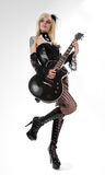 гитара девушки сексуальная Стоковая Фотография RF