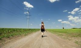 гитара девушки сельской местности Стоковые Изображения RF