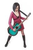 гитара девушки emo Стоковое Изображение