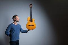 гитара его музыкант Стоковое Изображение RF