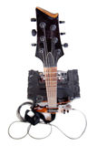 Гитара и усилитель с кабелем Стоковые Изображения