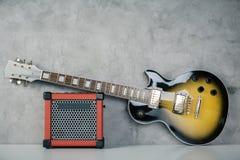Гитара и усилитель Стоковая Фотография RF