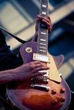гитара крупного плана электрическая Стоковая Фотография RF