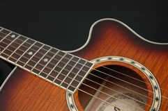 гитара крупного плана стоковое фото