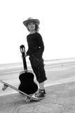 гитара мальчика стоковые изображения