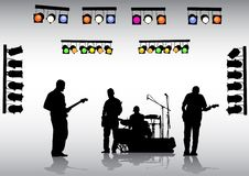 гитара полосы Стоковое Изображение