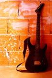 гитара предпосылки электрическая Стоковое Изображение RF