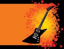 гитара предпосылки иллюстрация вектора