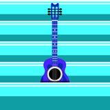 гитара предпосылки близкая изолированная вверх по белизне Стоковая Фотография