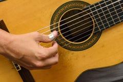 Гитара 7 строк Стоковое Фото