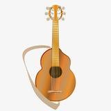 Гитара шипучки акустическая На белой предпосылке также вектор иллюстрации притяжки corel Стоковые Изображения