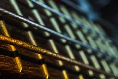 Гитара шнурует крупный план Стоковые Фото