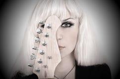 гитара девушки Стоковые Изображения