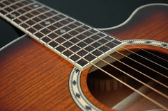 гитара 2 крупных планов стоковое изображение