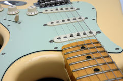 гитара 3 крупных планов электрическая Стоковое Фото