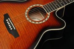 гитара 3 крупных планов стоковая фотография rf