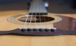 Гитара - tailpiece с строками Стоковые Фото