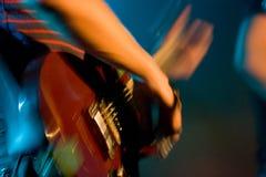 Гитарист в реальном маштабе времени стоковые изображения