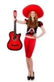 Гитарист женщины Стоковая Фотография RF