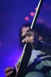 Гитарист на этапе Стоковое фото RF
