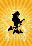 гитарист скачет бесплатная иллюстрация