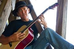 Гитарист страны Стоковое Изображение RF