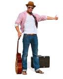 Гитарист улавливает автомобиль Стоковые Изображения