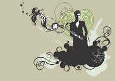 гитарист иллюстрация вектора