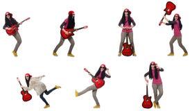 Гитарист hipste стоковые фотографии rf