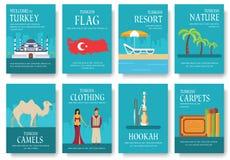 Гид каникул перемещения Турции страны товаров, мест и характеристик Комплект архитектуры, моды, людей, деталей, природы Стоковая Фотография