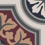 Гидравлические винтажные плитки цемента Стоковое Изображение