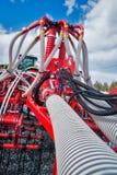 Гидравлические приводы прикрепленного на петлях оборудования Стоковое фото RF