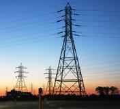 Гидро башни передачи электроэнергии Стоковые Фото