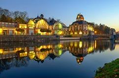 Гидро сила Hradec Kralove взгляд городка республики cesky чехословакского krumlov средневековый старый Стоковое Изображение