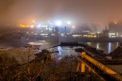 Гидро-электрический завод в городе Орегона Стоковые Изображения RF