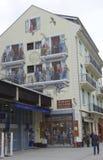 Гиды горы фрески Шамони в Шамони, Франции Стоковая Фотография RF