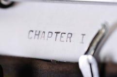Глава 1 напечатанная на машинке с старой машинкой Стоковые Изображения