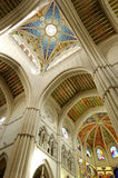глава madrid купола собора almudena стоковое изображение rf